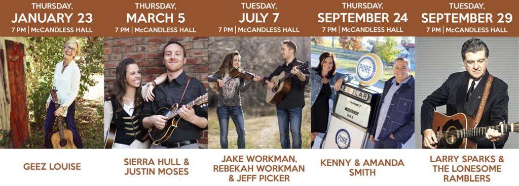 2020 Concert Series lineup